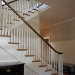 Staircase painted with Painted Spindles